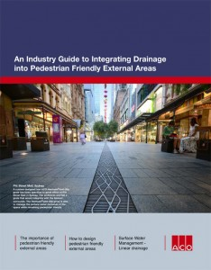 Integrating Drainage into Pedestrian Friendly External Areas
