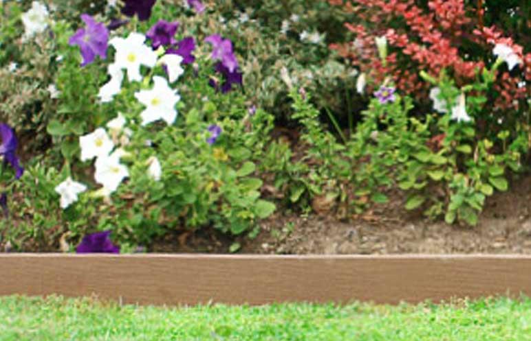 Solid Plastic Landscape Timbers : Garden edging enviroslat product ods
