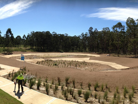 Enviro fines mulch a winner for catchment areas project for Soft landscape materials