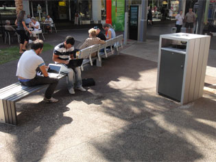 cox urban street furniture in darwin ods. Black Bedroom Furniture Sets. Home Design Ideas