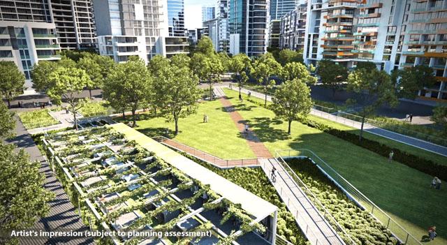 Green light for sydney s newest town centre ods for Garden design jobs sydney
