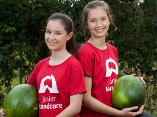 Kids get their green thumbs on Watermelons | JuniorLandcareAugusttwo | ODS