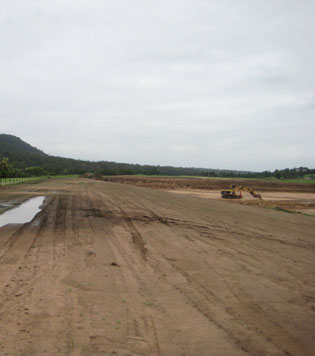Effective erosion control   Penrith-Lakes-TRM-before   ODS
