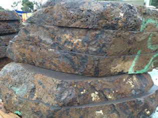Natural sawn rock pavers steps ods for Soft landscape materials