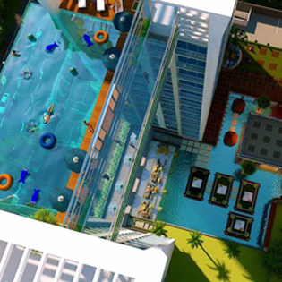 Pools go sky high ods - The sky pool a deluxe adventure ...