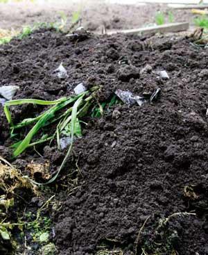 Making compost ods for Soft landscape materials