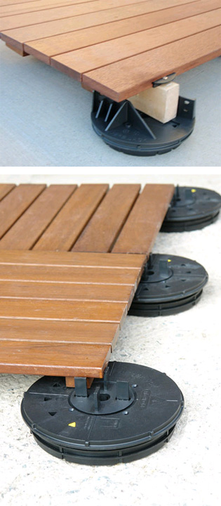 Low height decking support with VersiJack LH | elmich_2_l | ODS