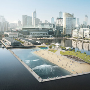 Melbourne's Floating Beach