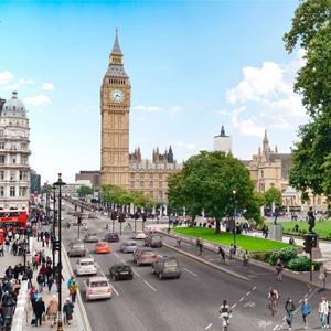 Cycling through London's City Centre