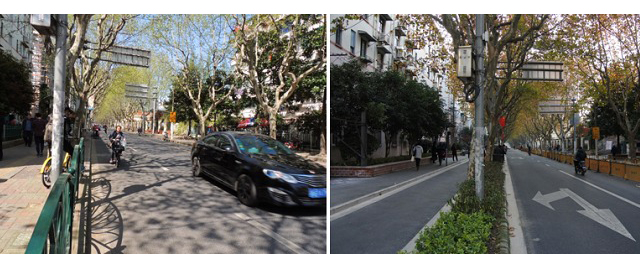 Shanghai streets  before and after