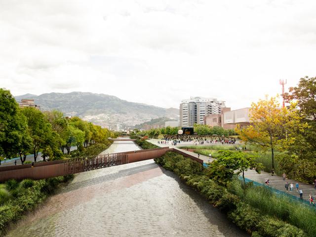 Parques del Río in Medellín (Colombia), Stage 1A. Image © Latitud Taller de Arquitectura y Ciudad