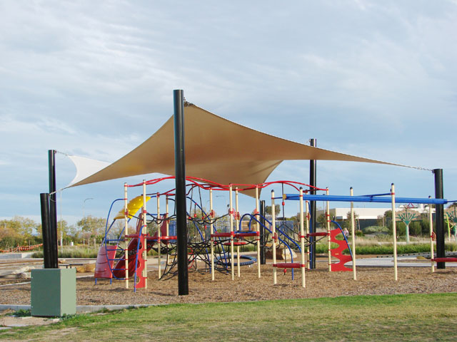 Waterproof Pvc Shade Sails For 3 Playgrounds Project Ods